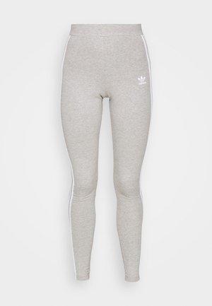 STRIPES COMPRESSION - Leggings - Trousers - medium grey heather