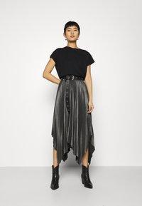 AllSaints - JAS SKIRT - A-line skirt - silver - 1