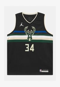Nike Performance - NBA MILWAUKEE BUCKS GIANNIS ANTETOKOUNMPO UNISEXBOYS STATEMENT SWINGMAN - Klubové oblečení - black - 0