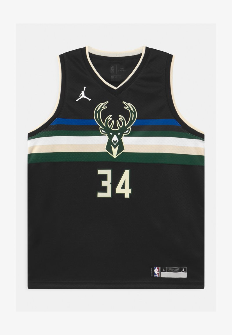 Nike Performance - NBA MILWAUKEE BUCKS GIANNIS ANTETOKOUNMPO UNISEXBOYS STATEMENT SWINGMAN - Klubové oblečení - black