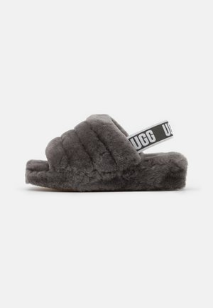FLUFF YEAH SLIDE - Chaussons - charcoal