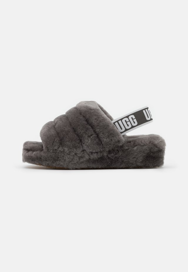 FLUFF YEAH SLIDE - Slippers - charcoal