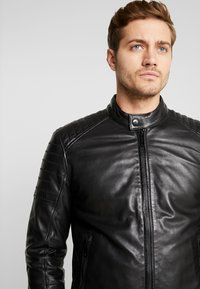 Strellson - DERRY - Leather jacket - black - 5