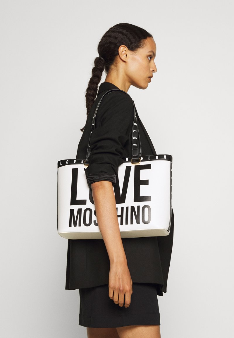 Love Moschino - BIG LOGO SHOPPER - Handbag - bianco