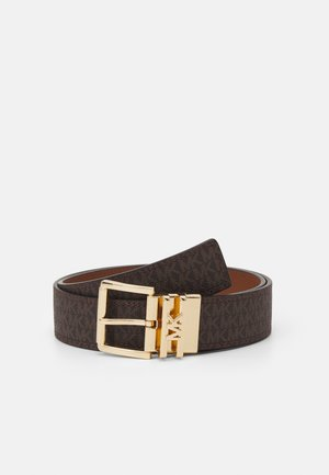 LOGO REVERSIBLE BELT - Cinturón - brown/chocolate/gold-coloured