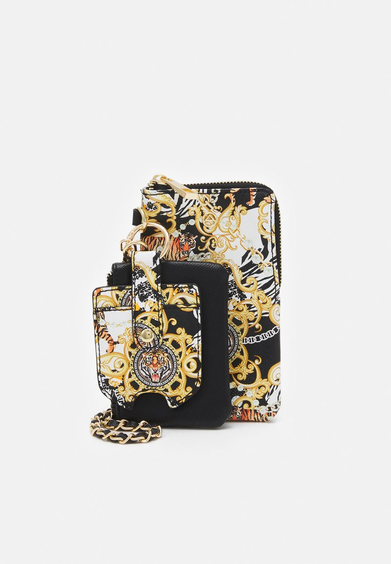 ALDO - GWAMMA SET - Across body bag - black/gold multi