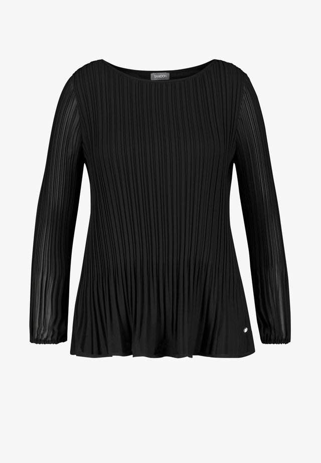 LANGARM - Blouse - black