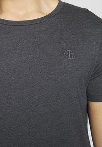 TOM TAILOR DENIM - LONG BASIC WITH LOGO - T-shirt - bas - dark grey - 5