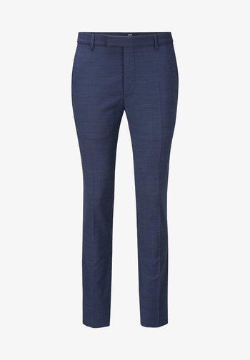 GUN - Suit trousers - mottled blue