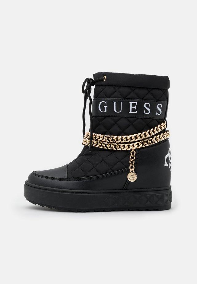 FARIBA - High heeled ankle boots - black