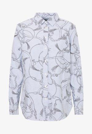 WASHED OXFORD - Button-down blouse - silk white/grey