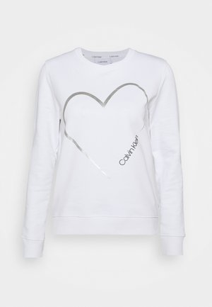 VALENTINES CREW NECK - Sweatshirt - bright white