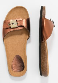 Scholl - BAHAMAIS - Slippers - bronze - 3