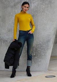 G-Star - XINVA SLIM TURTLE LONG SLEEVE C - Long sleeved top - senf - 4
