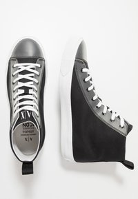 Armani Exchange - Sneakersy wysokie - black icon - 1