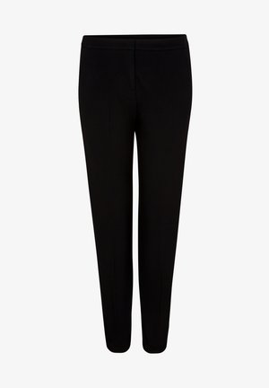 MIT GALONSTREIFEN - Trousers - black