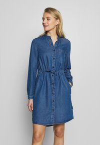 Marc O'Polo DENIM - DRESS FEMININE PATCHED POCKET - Vestito di jeans - february blue dress - 0
