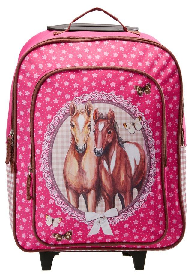 PFERDE - Wheeled suitcase - pink