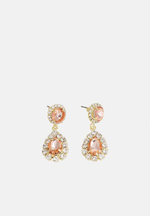 FPPEGGIE GEMSTONE OCCASION EARRING - Oorbellen - gold colour/rose-clear
