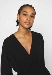 NA-KD - STRAP TIE MINI DRESS - Day dress - black - 3