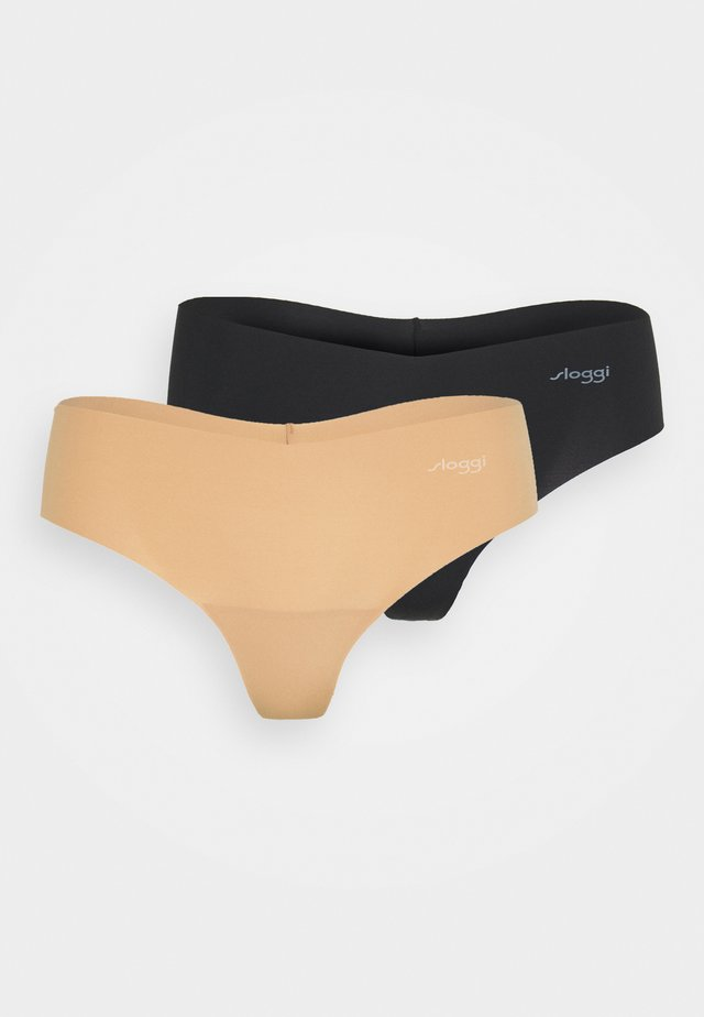 2 PACK - Tanga - skin dark