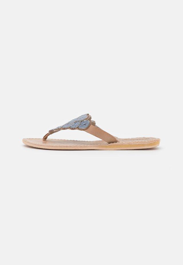 LAITH FLAT - Flip Flops - silver/grey