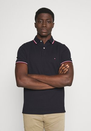 TIPPED SLIM FIT - Poloshirts - blue