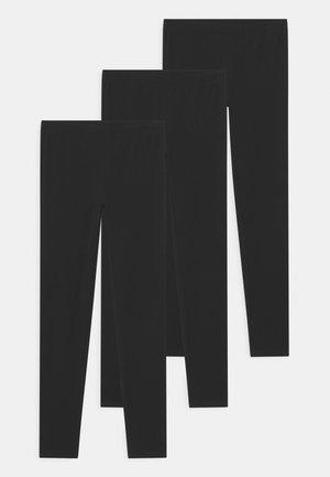 3 PACK - Legginsy - true black