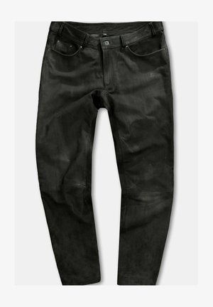Leather trousers - marron