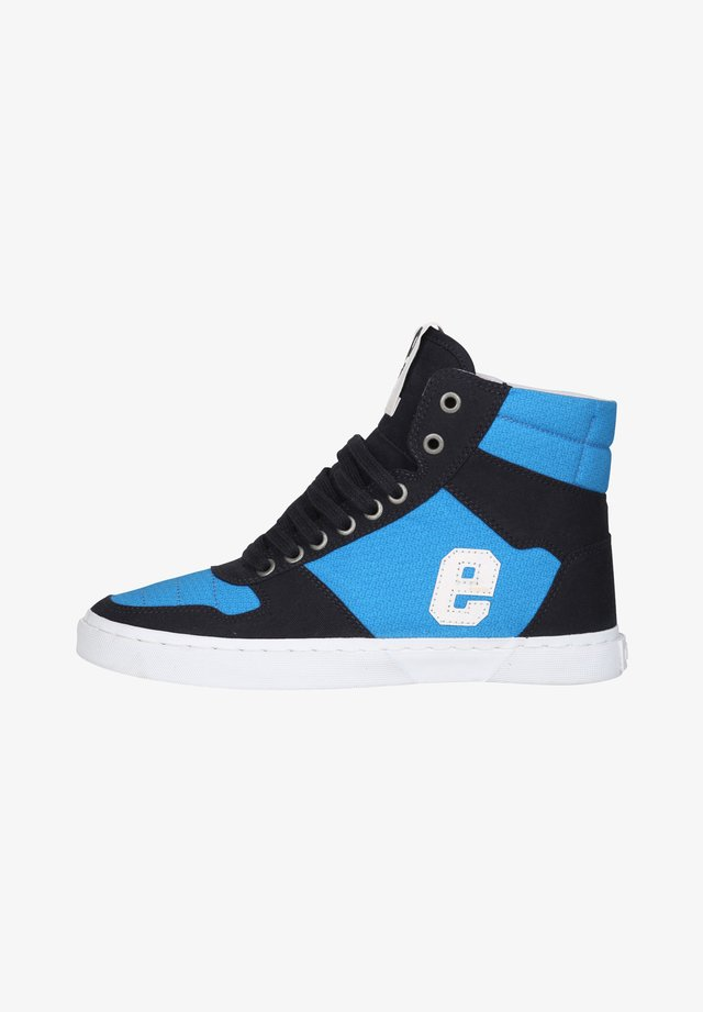 High-top trainers - grid blue
