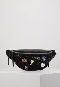 KARL LAGERFELD - STUDIO BUMBAG - Bum bag - black/multi - 0