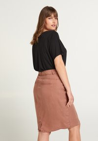 Zizzi - Pencil skirt - brown