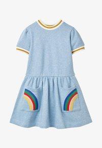 Boden - MIT TASCHEN-APPLIKATION - Jersey dress - eisblau - 0