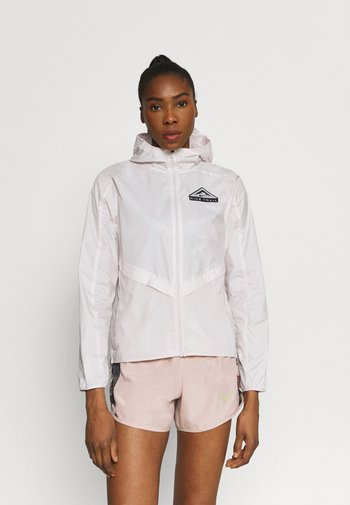 TRAIL - Sports jacket - light soft pink/smoke grey/black