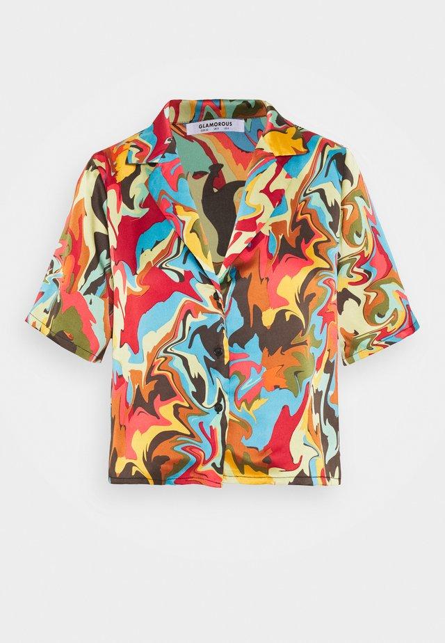 CROP BUTTON  - Košile - multicolor