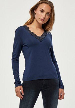 Top sdlouhým rukávem - dress blue