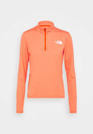 RISEWAY ZIP - Langærmede T-shirts - flame heather
