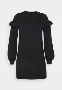 Miss Selfridge Petite - FRILL SLEEVE DRESS - Day dress - black - 4