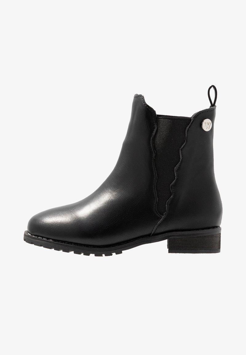 Walnut - KENDALL SCALLOPED BOOT - Kotníkové boty - black