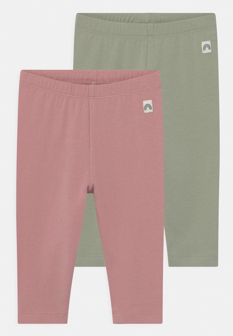 Lindex - 2 PACK UNISEX - Leggings - Trousers - dusty pink