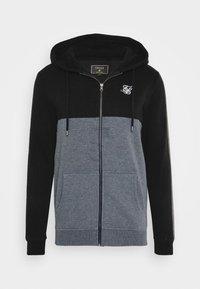 SIKSILK - CUT AND SEW ZIPTHROUGH HOODIE - Zip-up hoodie - black/grey marl - 3