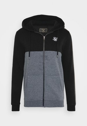 CUT AND SEW ZIPTHROUGH HOODIE - Mikina na zip - black/grey marl