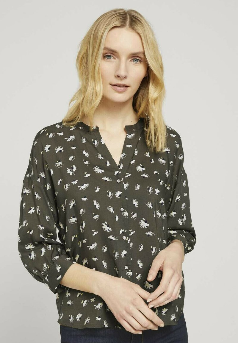 TOM TAILOR - Bluser - khaki small floral design