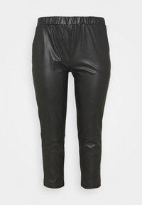 PCSALIMA CROPPED PANTS - Pantalones - black