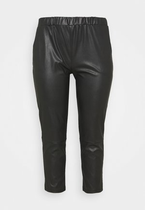 PCSALIMA CROPPED PANTS - Trousers - black