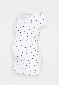 Anna Field MAMA - Camiseta estampada - white/black - 0
