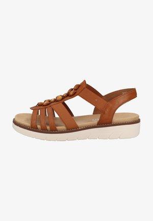 Platform sandals - cayenne/gaucho