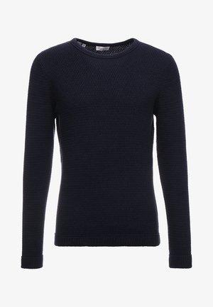 SLHVICTOR CREW NECK - Trui - navy blazer/twisted black