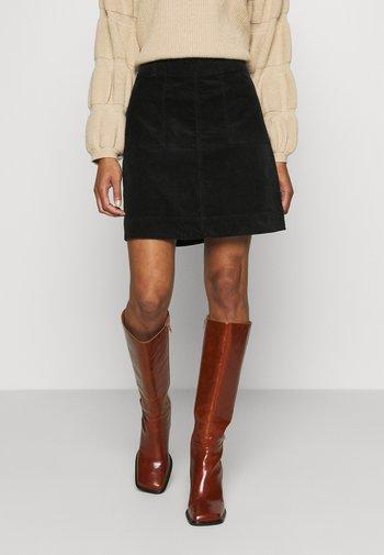 VICTORIA SOLID SKIRT - A-line skirt - black