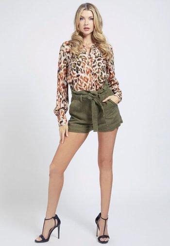 MONA - Button-down blouse - mehrfarbig braun